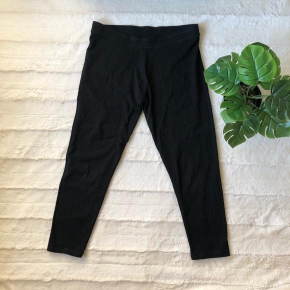 Roots crop leggings - black - size XL